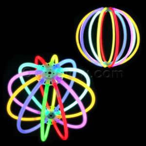Fun Central D19 Glow in the Dark Ball - Multicolor