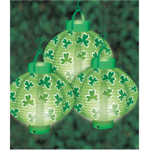 St. Patrick's Day Light-Up Lanterns