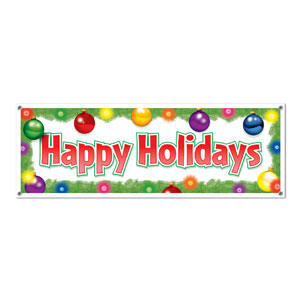 Happy Holidays Sign Banner - 5ft