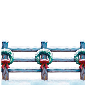 Holiday Fence Border Prop - 30ft