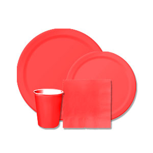 Red Tableware Kit