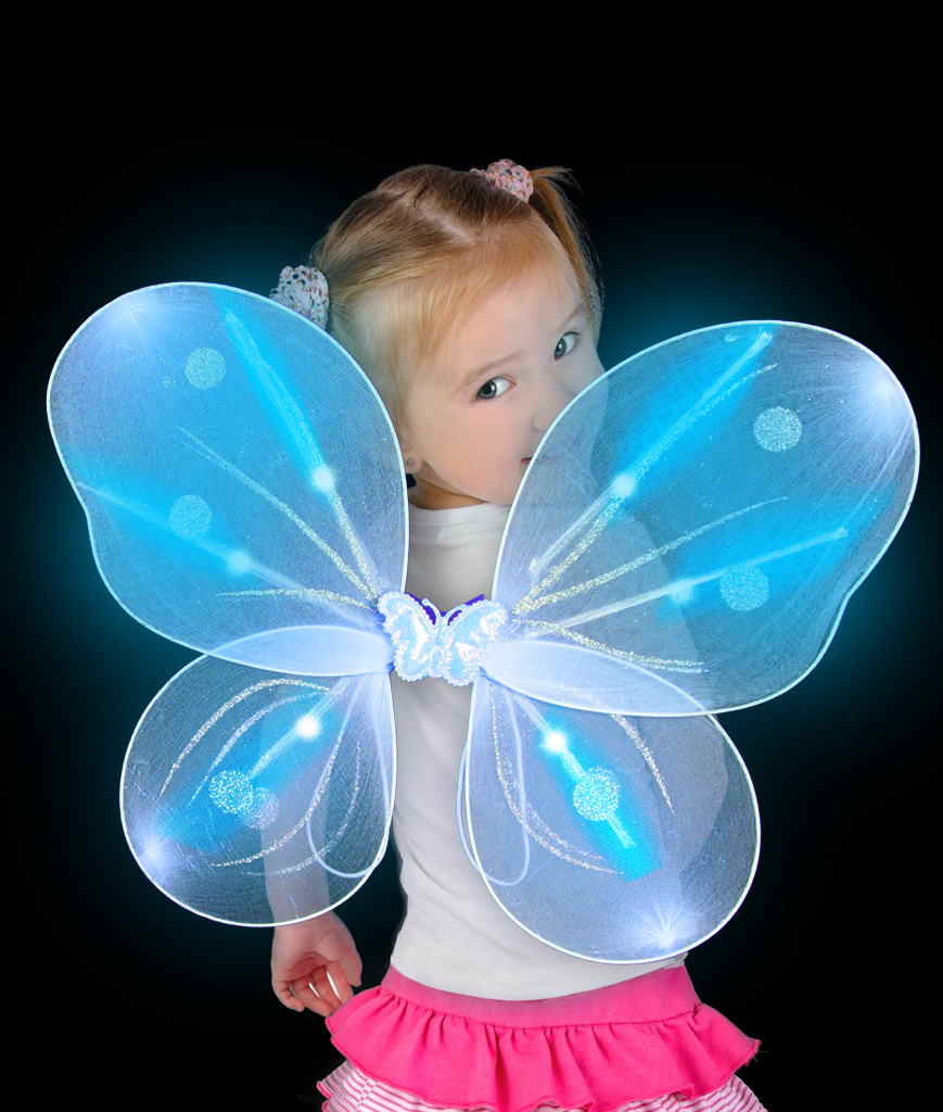 LED Butterfly Wings - Blue