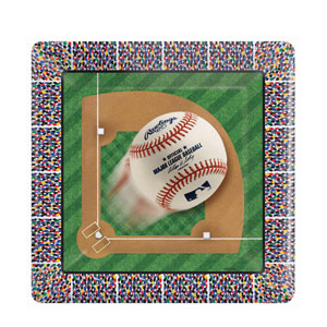 MLB Square Platter- 12in