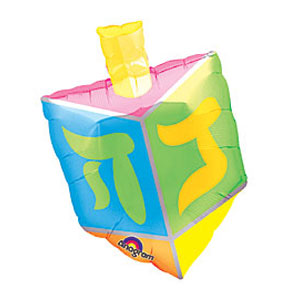 Foil Hanukkah Dreidel Balloon - 23 Inches