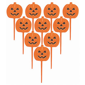 Pumpkin Party Picks- 10ct