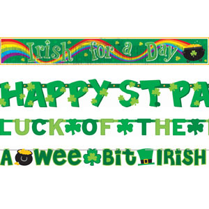 St. Patty's Giant Letter Banner