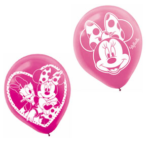 Disney Minnie Mouse Printed Latex Balloons- 6ct
