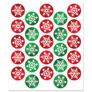 Holiday Snowflake Seals - 25ct
