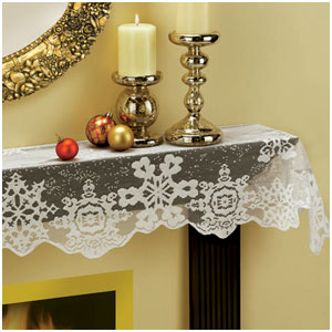 Holiday Lace Mantle Scarf- 72 Inch