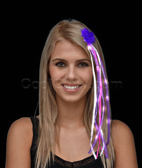 LED Ribbon Hair Extension - Pink and Purple