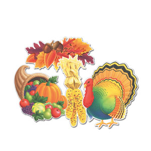 Thanksgiving Cutouts - 4ct