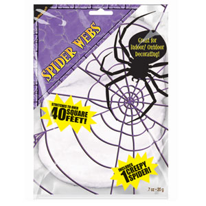 White Stretchable Spider Web- 2.1oz