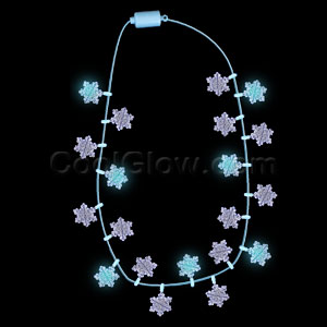 Fun Central R329 LED Light Up Light Up Snowflakes Necklace