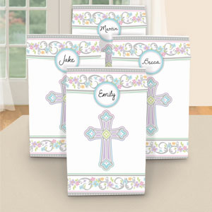 Communion Treat Bags with Personalized Stickers- 12pc