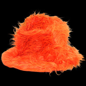 Furry Bucket Hat - Orange