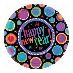 Modern New Years 10 Inch Plates