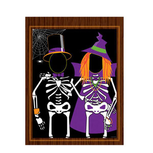 Skeleton Photo Opportunity Banner- 50in