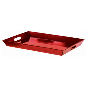 Glitter Red Rectangular Serving Tray- 18 Inch