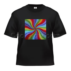 LED Sound Activated T-Shirt - Rainbow Swirl