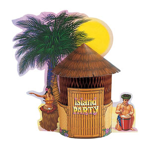 Tiki Hut Centerpiece