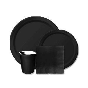 Black Velvet Tableware Kit