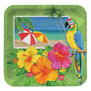Tropical 9 Inch Plates- 8ct