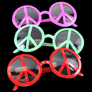 Peace Sign Eye Glasses - Assorted