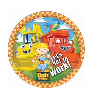 Bob The Builder 9 Inch Plates- 8ct