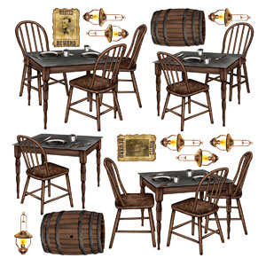 Saloon Table Props- 15ct