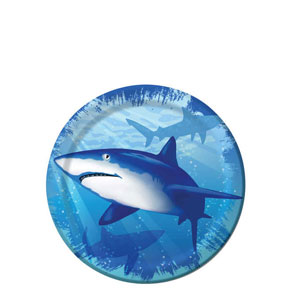 Shark Splash 7 Inch Plates- 8ct