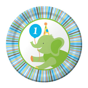Sweet at One Boy Luncheon Plates - 8ct