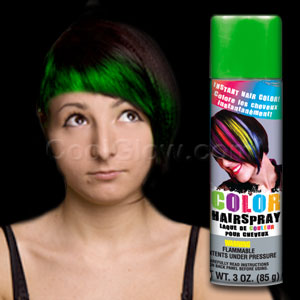 Color Hairspray - Green
