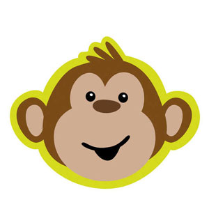 Monkeyin' Around Diecut Invitations- 8ct