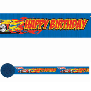 Hot Wheels Crepe Streamer- 30ft
