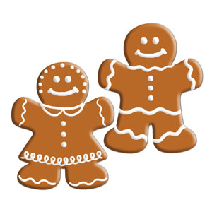 Mini Gingerbread Cutouts - 10ct