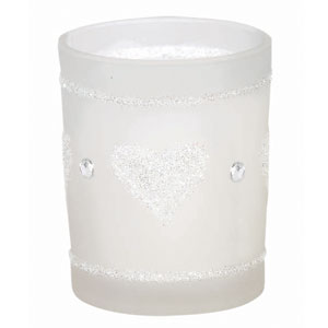 Giltter Heart Candle Favor