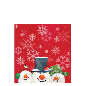 Snowman Carols Plastic Tablecover
