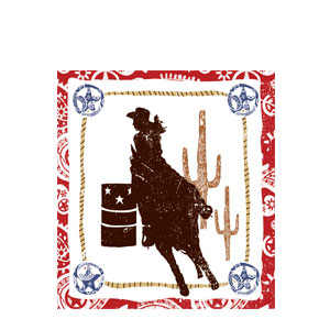 Western Lasso Cowgirl Luncheon Napkins- 16ct