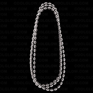 Football Shape Beads- Metallic Silver