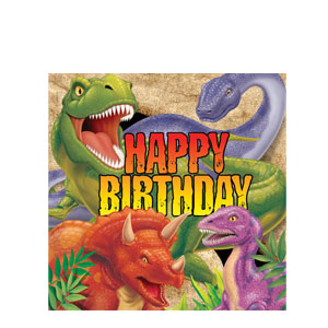 Dino Blast Happy Birthday Napkins- 16ct