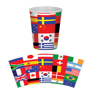 International Flag 9 oz. Cups- 8ct