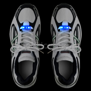 LED Motion Activated Shoe Laces - Blue