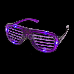 LED Shutter Slotted Shades - Purple