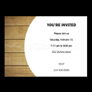Wooden - Custom Invitations