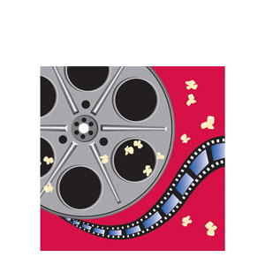 Reel Hollywood Movie Reel Luncheon Napkins- 16ct