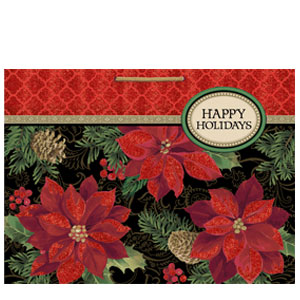 Holiday Enchantment Jumbo Glitter Gift Bag- 17 Inch