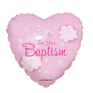 Girl Baptism Dove Balloon- 18in