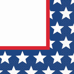 Red White  Blue Stars Plastic Tablecover