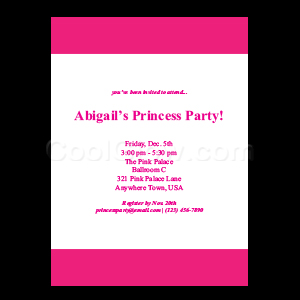 Pink - Custom Invitations
