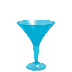 Blue Martini Glass 8 oz.- 20ct